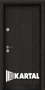 Блиндирана входна врата TP-005, цвят Черна перла