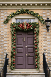Идеи за коледна украса на входната врата