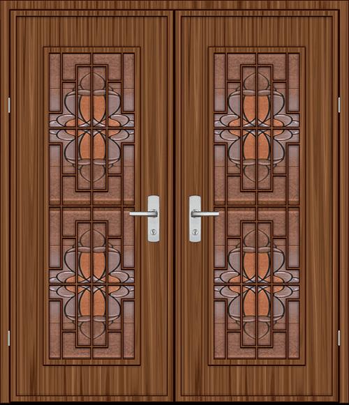 Интериорни врати с украса от витраж