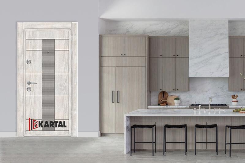 Блиндирана входна врата Картал - бяла